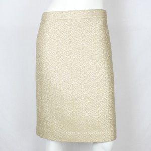 J.Crew Collection Metallic Camel Pencil Skirt